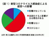 (図1)新型コロナウイルス感染症による経営への影響