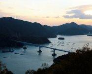 瀬戸内海国立公園・夕立受山からは片上湾が一望できる