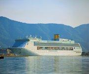 昨年は3回寄港したイタリア船「コスタ・ヴィクトリア号」。1回で約2000人が上陸する