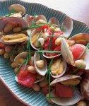 フライパンひとつでできるメチオニン強化メニュー アサリと大豆のトマトガーリック蒸し