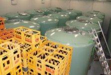 新酒蔵の氷温貯蔵庫。2万石以上(一升瓶200万本分以上)のお酒を長期保存している
