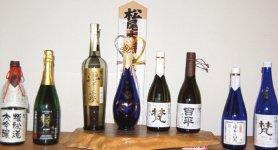 いずれも純米酒。左から3番目「梵・夢は正夢」と4番目「梵・超吟」は精米歩合20%