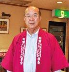 出雲ぜんざい学会で会長を務める田邊さん。神門通り復活の最大の功労者といわれている