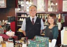 ゆったりとした時間を過ごすことができるふじひろ珈琲の代表取締役の伊藤博人さん(左)と内田奈美さん