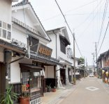 木綿街道。出雲市平田地区は江戸時代から明治時代にかけて木綿の市場町として栄えた