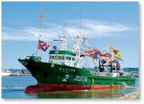 同社が取り扱うエンジンは、漁船をはじめ、多くの船舶に利用されている