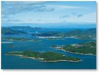 筆影山・竜王山の展望台から眺める多島美は瀬戸内海随一と評される