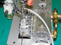 ブリュナエンジン復元の検証作業のためにつくられた5分の1のレプリカ