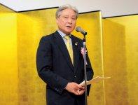 あいさつをする福田栃木県知事