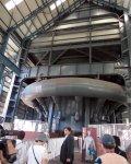 中に入ってみると、その大きさに圧倒される。東田第一高炉見学