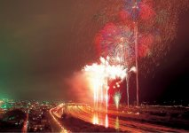 北上みちのく芸能まつりのフィナーレを飾る大花火