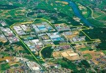 「工業都市北上のシンボル」として北上川流域テクノポリスの中心的役割を果たす工業団地。市内には計8カ所の工業団地が整備されている