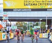 さいたま新都心駅周辺を回る市街地コースで開催されている『ツール・ド・フランス さいたまクリテリウム』。この大会には世界の強豪自転車チームが集まる。2013年にツール・ド・フランス100周年を記念して始まった。3回目となる今年は10月24日(土)に開催。沿道には多くの観客が集まり声援を送る ©Saitama City yuzuru.sunada