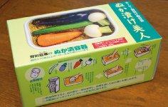 パッケージにぬか漬けのつくり方を掲載し、手軽においしいぬか漬けを楽しめることをアピールしている