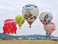 鈴鹿バルーンフェスティバル。鈴鹿の秋の風物詩で全国5カ所で行われる「熱気球ホンダグランプリ」の一つ