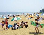 鈴鹿の海。県内外から多くの海水浴客が訪れる