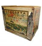 明治30年ごろにロシアにお茶を輸出した際の茶箱。当時としては最先端のデザインだった