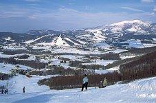 菅平高原。約100面のグランドを有する。夏はラグビーなどのスポーツ合宿、冬はスキーリゾートして人気がある