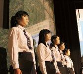 近畿ブロック大会では高校生と一緒に国歌斉唱