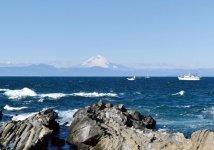 城ヶ島から相模湾越しに見た富士山