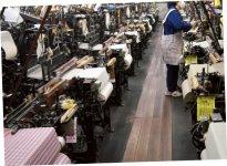 明治時代から受け継がれる織機。平成28年5月に開催されたG7伊勢志摩サミットでは、伊勢木綿が各所に使われた