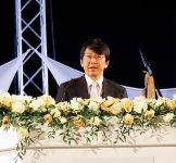 世耕弘成経済産業大臣からの祝辞を代読する、宮本聡中小企業庁長官