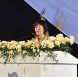 祝辞を述べる高橋はるみ北海道知事