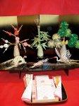水引細工:本市の伝統工芸品。金封や結納品として全国に出荷されている