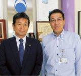 社長の長田和徳さん(左)と執行役員の小島伸晃さん。「これまで勘でやっていたところを、IoTで数値化できることが一番重要です」(長田さん)、「以前はどうもおかしいなで終わってしまっていたことが、今は正確なデータがあるので対策が取りやすくなりました」(小島さん)