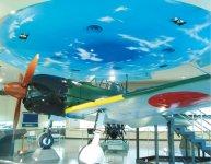 鹿屋航空基地史料館に展示されている「零式艦上戦闘機五二型」(ゼロ戦)