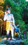 温泉街の各所に建てられた鬼の像