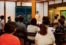 竹田邸で行われた講和の様子
