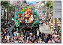 十和田市秋まつり(9月):毎年行われる自作山車の運行