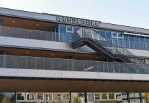 来月オープン予定の周南市立徳山駅前図書館などを中核とする駅ビル