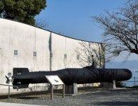 大津島に展示されている戦時中の特攻兵器「回天」