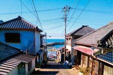 外川町の坂道と石畳
