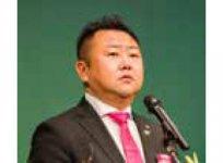 大会オープニングで祝辞を述べる吉田会長(岡山YEG)
