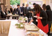 サラダ菜料理が並ぶアイデアレシピ晩餐会