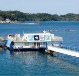 この萬坊の海中レストランから一望できる海の景色は必見