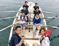 スタート直前の弘前YEGのカッターレースチーム