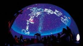 皆生温泉で2018年8月夜に実施したプラネタリウム