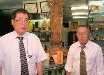 四代目社長の武田圭司さん(左)と、兄で3代目社長だった武田好弘さん。「私が65歳になり、店を若い人に任せようということで弟に譲りましたが、今でも仕事を手伝っています」と好弘さん