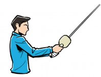 PWと一緒に卓球のラケットを握って打つ
