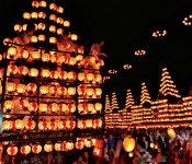 二本松の提灯祭り。日本三大提灯祭りの一つで、本年から毎年10月の第1 土・日・月曜日に行われる