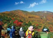 日本百名山「安達太良山」の紅葉