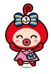 """ふタコ:""""双子織""""のマスコットキャラクター。双子織が大好きなタコの女の子。頭に「ふ」をのせた"""