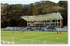 ラグビーW杯のために新設された「釜石鵜住居復興スタジアム」