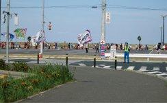 2012年から開催されている、ちばアクアラインマラソンの警備も担当