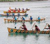 伝統行事の一つ、奄美まつり舟こぎ競争