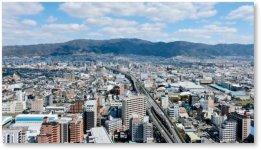 東大阪市の上空写真:技術力の高い中小企業が多数集積する